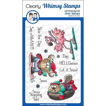 Whimsy Stamps WINTER SPORTS Clear Stamps DP1032