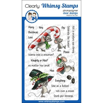 Whimsy Stamps VERY MICE CHRISTMAS Clear Stamps C1351