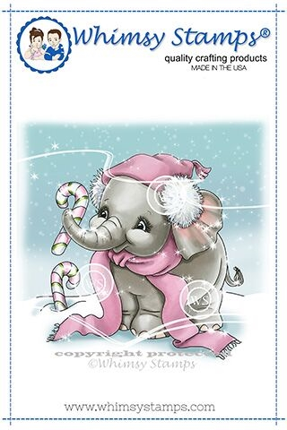 Whimsy Stamps ELLIE'S CANDY CANES Rubber Cling Stamp C1350 Preview Image