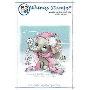 Whimsy Stamps ELLIE'S CANDY CANES Rubber Cling Stamp C1350