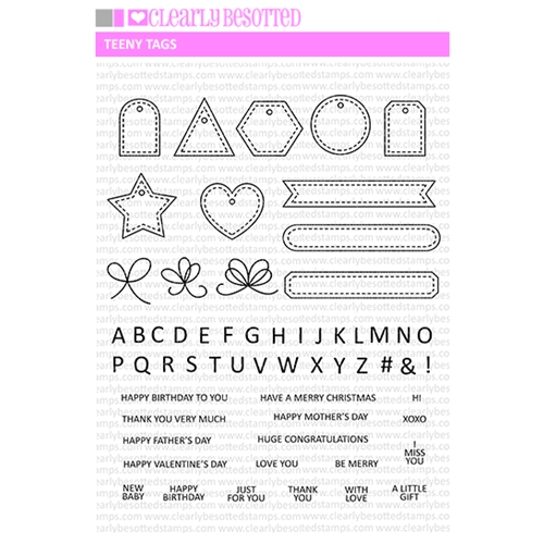 Clearly Besotted TEENY TAGS Clear Stamps* Preview Image