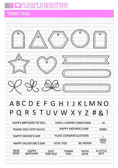 Clearly Besotted TEENY TAGS Clear Stamps* zoom image