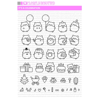 Clearly Besotted IT'S A CELEBRATION Clear Stamps