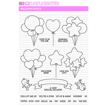 Clearly Besotted BALLOON BUNCH Clear Stamps