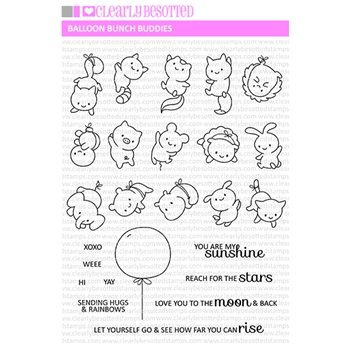 Clearly Besotted BALLOON BUNCH BUDDIES Clear Stamps