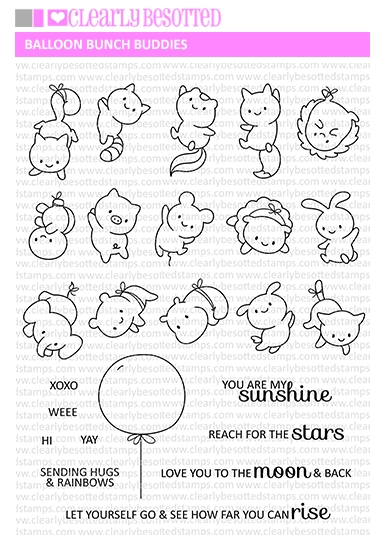 Clearly Besotted BALLOON BUNCH BUDDIES Clear Stamps zoom image