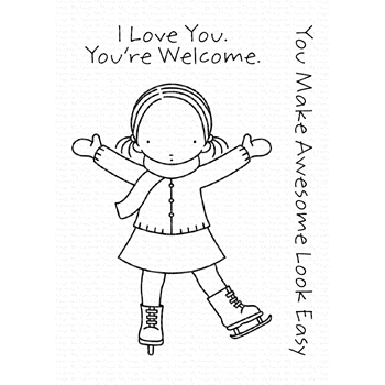 Pure Innocence SASSY SKATER Clear Stamps PI294