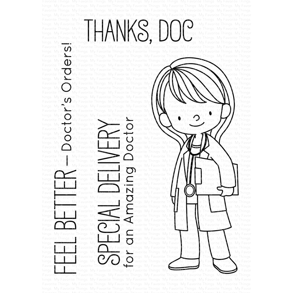 My Favorite Things DOCTOR'S ORDERS Clear Stamps BB91 zoom image