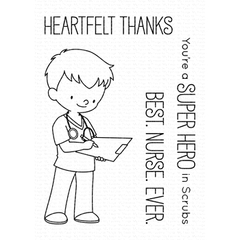 My Favorite Things SUPER HERO IN SCRUBS Clear Stamps BB90