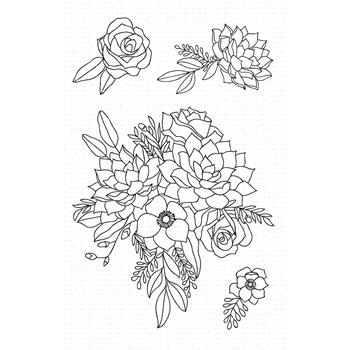 My Favorite Things FANTASY FLORALS Clear Stamps CS441