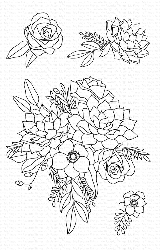 My Favorite Things FANTASY FLORALS Clear Stamps CS441 zoom image