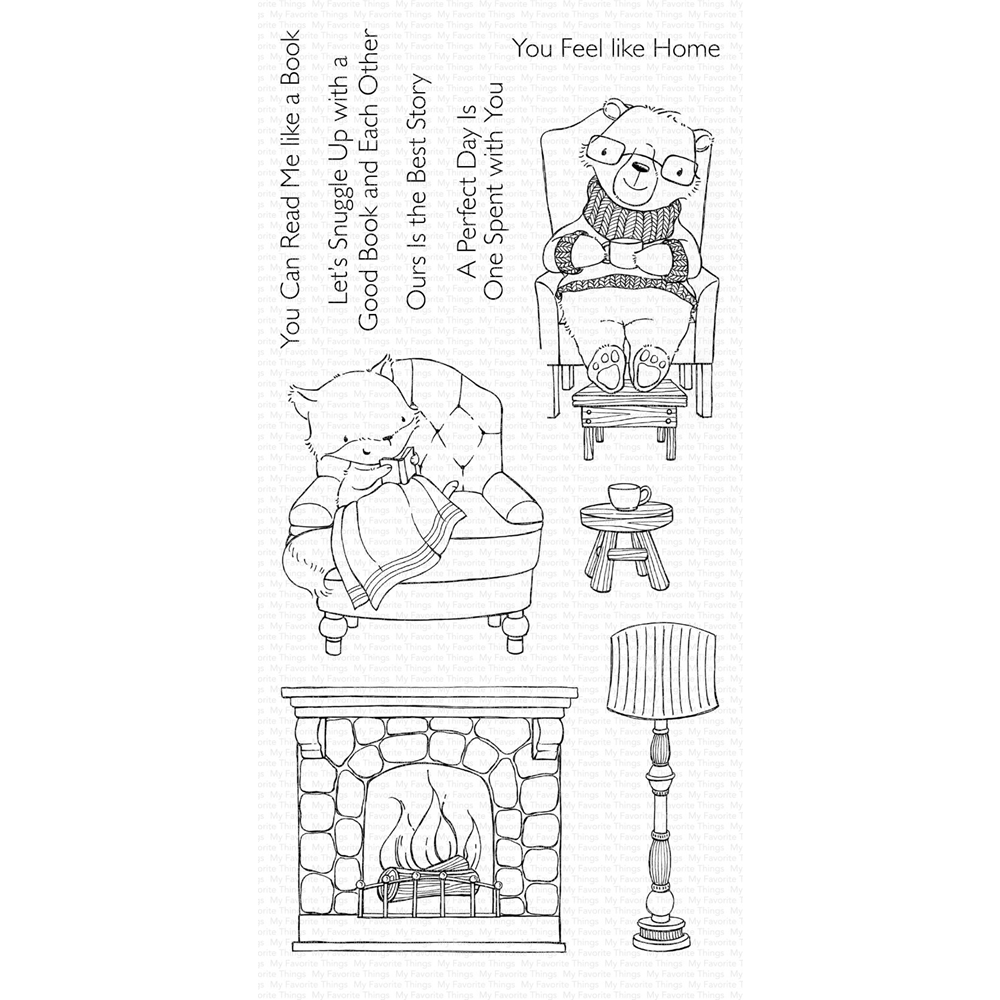My Favorite Things COZY COMPANIONS Clear Stamps SY15 zoom image