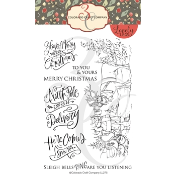 Colorado Craft Company Lovely Legs SANTA AND RUDOLPH Clear Stamps LL275*