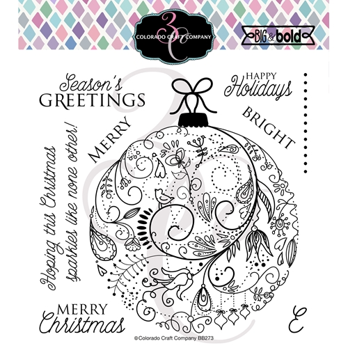 Colorado Craft Company Big and Bold HOLIDAY ORNAMENT Clear Stamps BB273 Preview Image