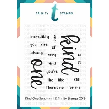Trinity Stamps KIND ONE SENTI-MINI Clear Stamp Set tps-010