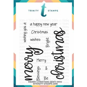 Trinity Stamps MERRY CHRISTMAS SENTI-MINI Clear Stamp Set tps-017