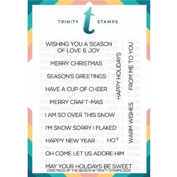 Trinity Stamps GREETINGS OF THE SEASON Clear Stamp Set tps-016