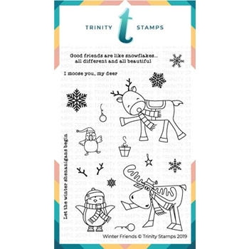Trinity Stamps WINTER FRIENDS Clear Stamp Set tps-021