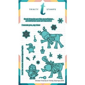 Trinity Stamps WINTER FRIENDS Die Set tmd-c16
