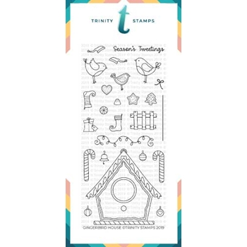 Trinity Stamps GINGERBIRD HOUSE Clear Stamp Set tps-022