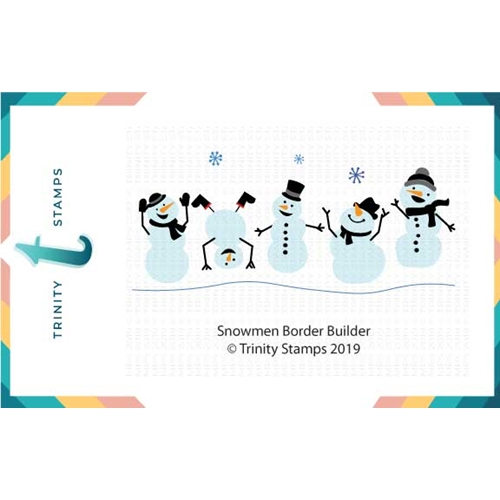 Trinity Stamps SNOWMAN BORDER BUILDER Die Set tmd-007 Preview Image
