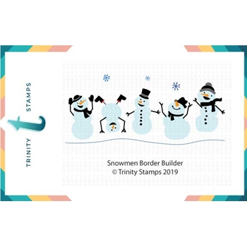 Trinity Stamps SNOWMAN BORDER BUILDER Die Set tmd-007