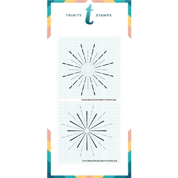 Trinity Stamps SHINE BRIGHTER 6 x 6 Stencil Set of 2 tss-005