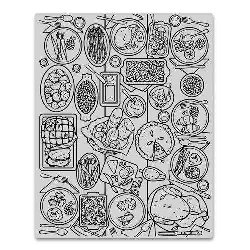 Hero Arts Cling Stamps FEAST Background CG798 Preview Image