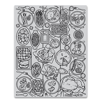 Hero Arts Cling Stamps FEAST Background CG798