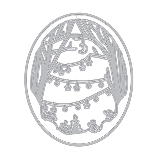 Hero Arts Fancy Dies DECORATED WINTER BRANCHES WINDOW DI705* Preview Image