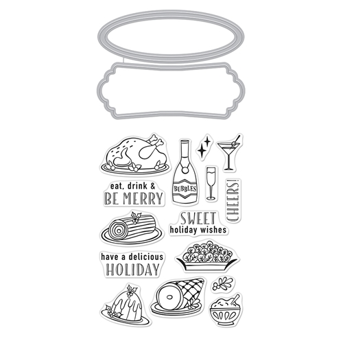 Hero Arts Stamp and Cut HOLIDAY MEAL Set DC271* Preview Image