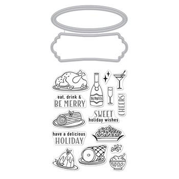 Hero Arts Stamp and Cut HOLIDAY MEAL Set DC271