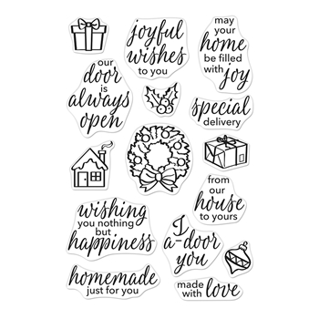 Hero Arts Clear Stamps MAY YOUR HOME BE FILLED WITH JOY CM406