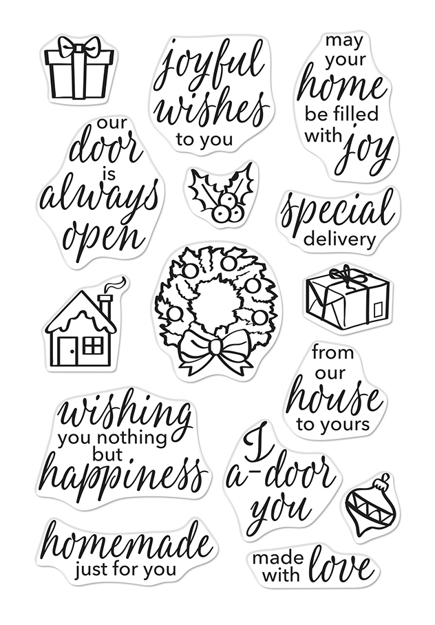 Hero Arts Clear Stamps MAY YOUR HOME BE FILLED WITH JOY CM406 zoom image