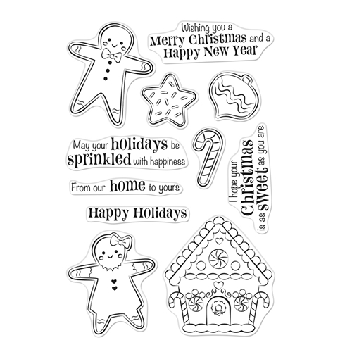 Hero Arts Clear Stamps CHRISTMAS GINGERBREAD COOKIES CM403 Preview Image