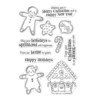 Hero Arts Clear Stamps CHRISTMAS GINGERBREAD COOKIES CM403