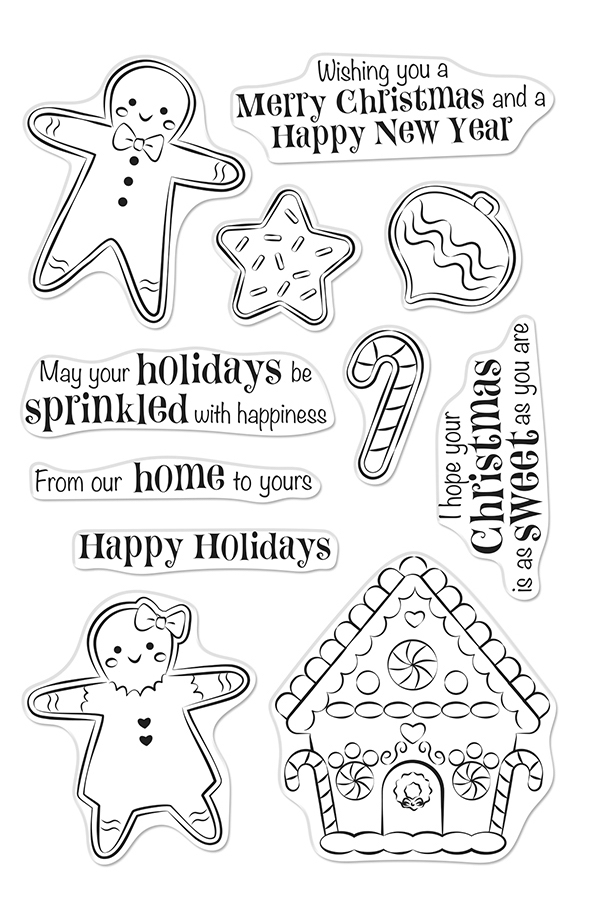 Hero Arts Clear Stamps CHRISTMAS GINGERBREAD COOKIES CM403 zoom image