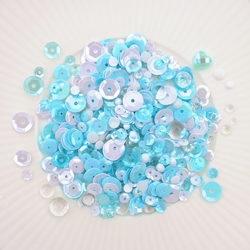 Little Things From Lucy's Cards ARCTIC AQUAMARINE Sequin Shaker Mix LB298 Preview Image