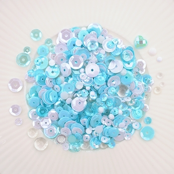 Little Things From Lucy's Cards ARCTIC AQUAMARINE Sequin Shaker Mix LB298