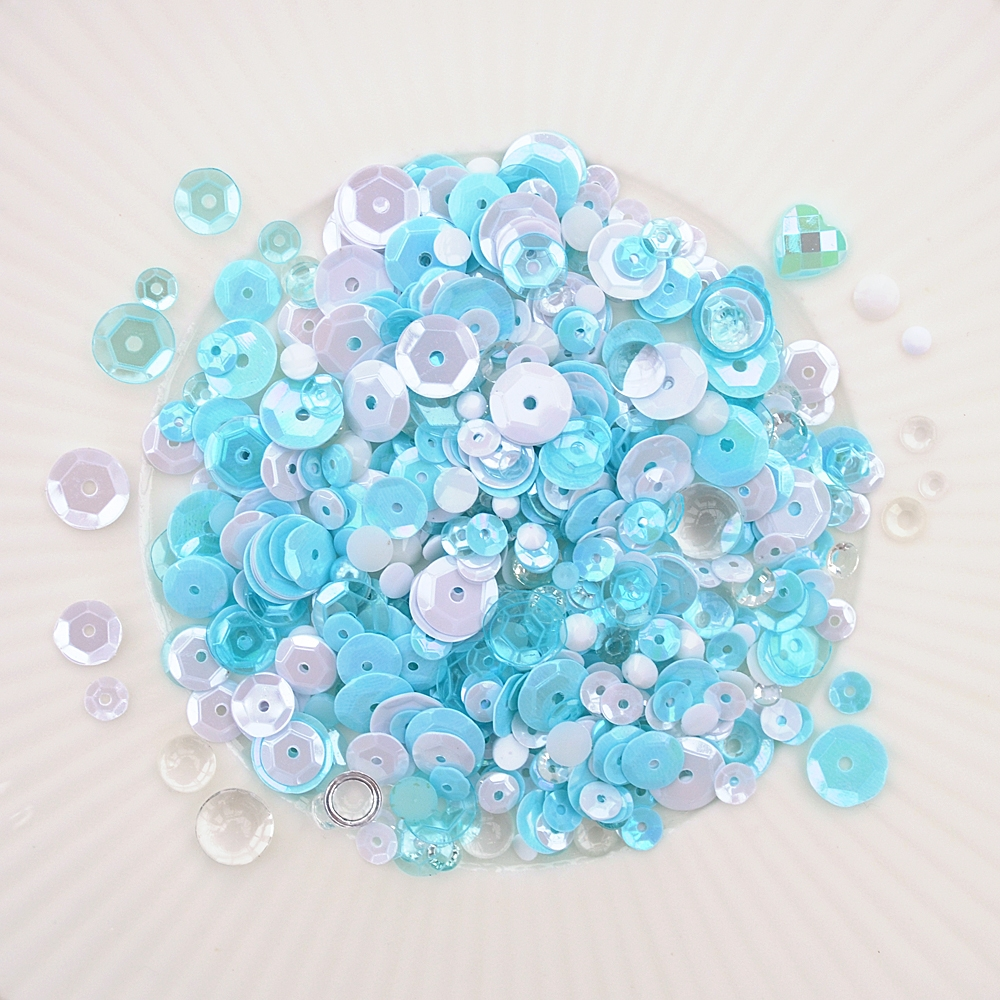 Little Things From Lucy's Cards ARCTIC AQUAMARINE Sequin Shaker Mix LB298 zoom image
