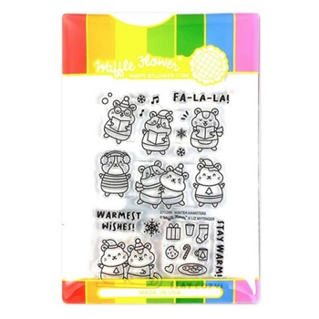 Waffle Flower WINTER HAMSTER Clear Stamps 271289*