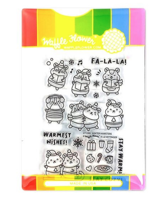 Waffle Flower WINTER HAMSTER Clear Stamps 271289* zoom image