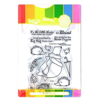 Waffle Flower BLESSED BEAR Clear Stamps 271288*