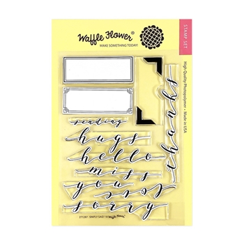 Waffle Flower SIMPLY SAID 1 Clear Stamps 271287
