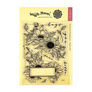 Waffle Flower SUNFLOWER LOVE Clear Stamps 271286