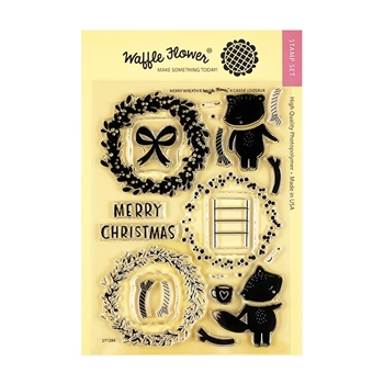 Waffle Flower MERRY WREATH Clear Stamps 271284