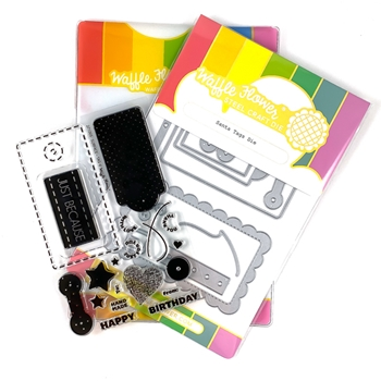 Waffle Flower SURFACE TAG Clear Stamp and Die Combo WFC005