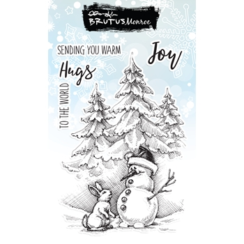 Brutus Monroe WHITE CHRISTMAS Clear Stamps bru1074