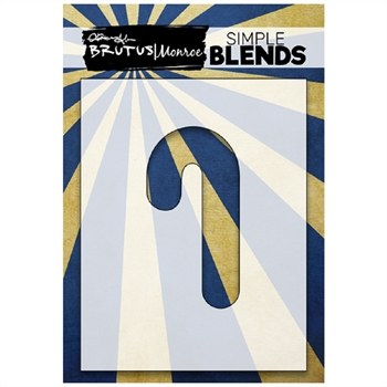 Brutus Monroe SIMPLE BLEND CANDY CANE Stencil bru1289