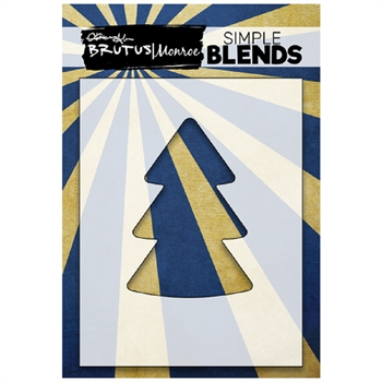 Brutus Monroe SIMPLE BLEND CHRISTMAS TREE Stencil bru1296